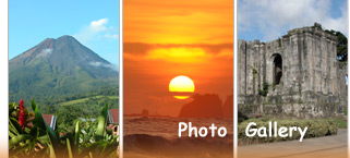 Our Gallery of sights you may experience during our Costa Rica Vacation Deals