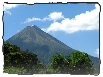 The Arenal Volcano on a clear day